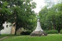 Pomník ve Vrchlického sadech - aktuální stav